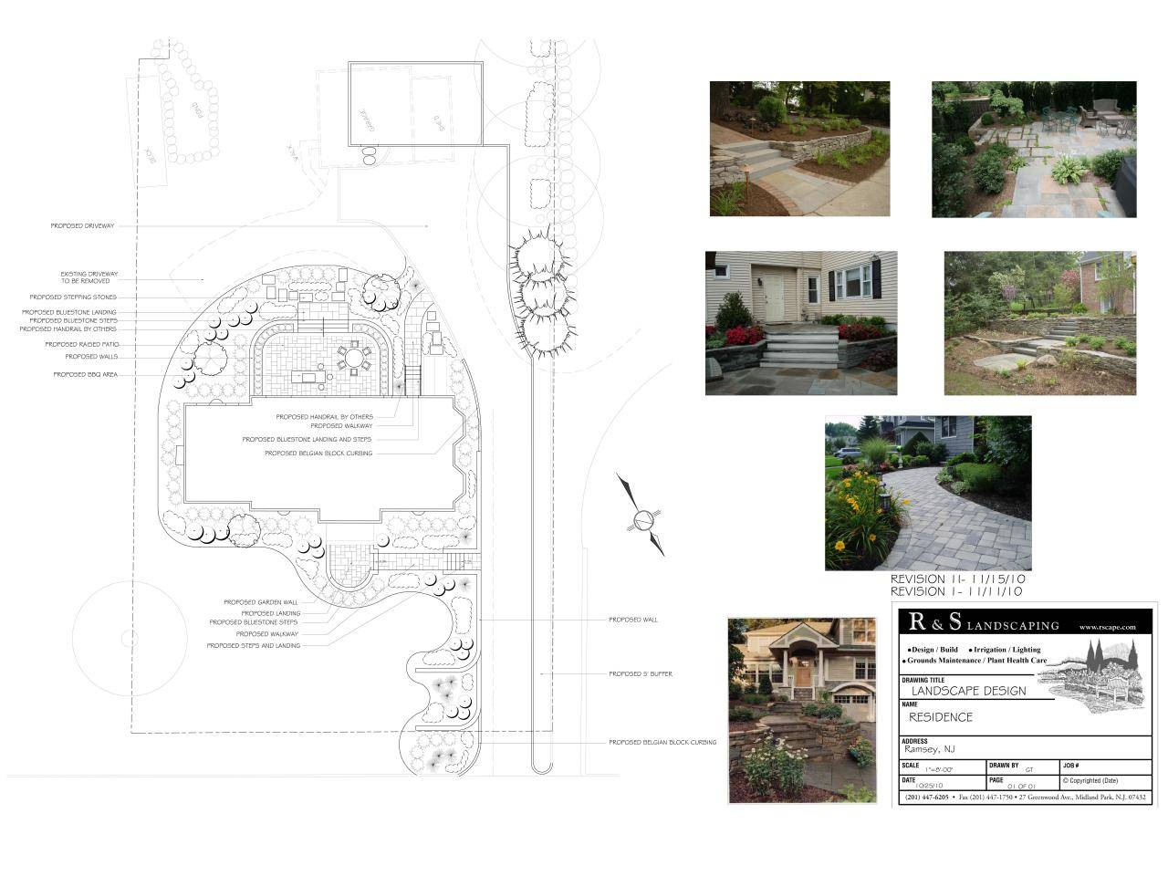 Landscape Design Drawing Templates