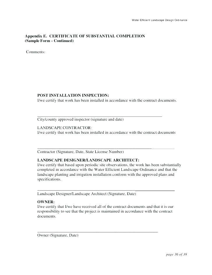 Landscape Installation Contract Template