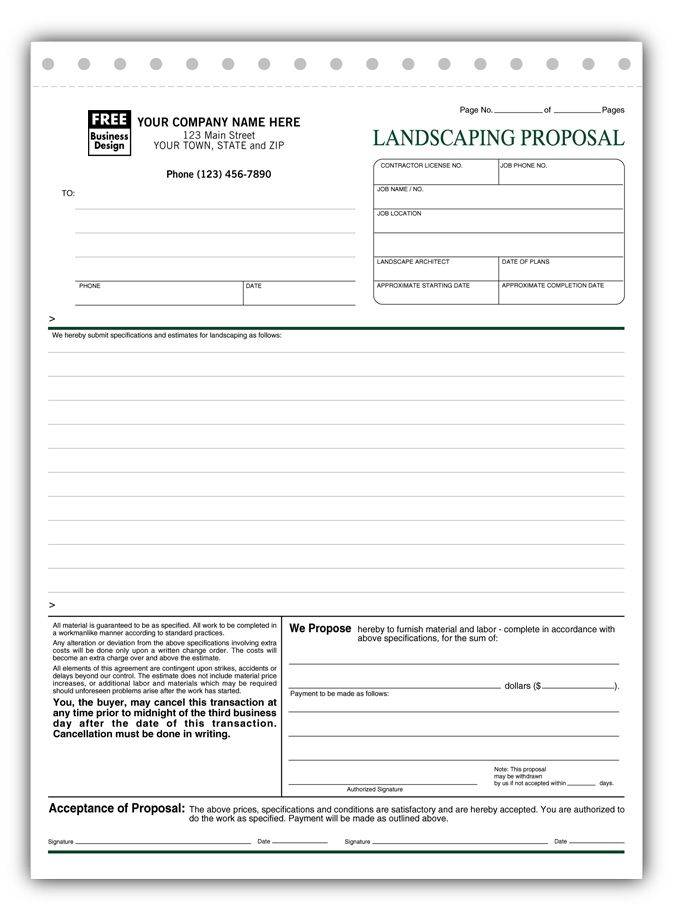 Landscape Proposal Template