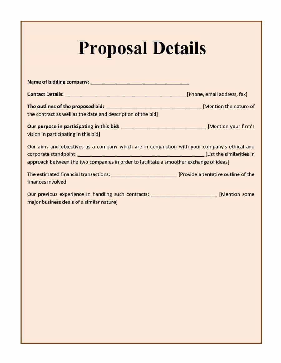 Landscaping Bid Proposal Forms