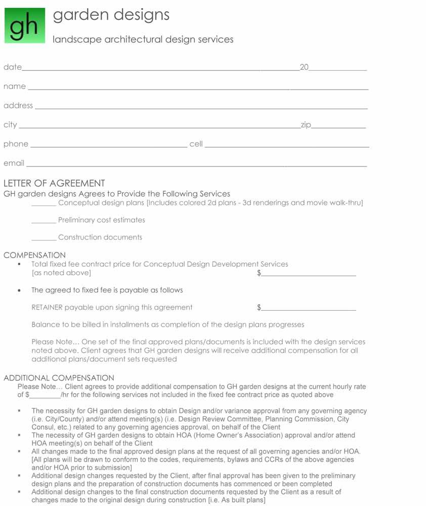 Landscaping Contract Example