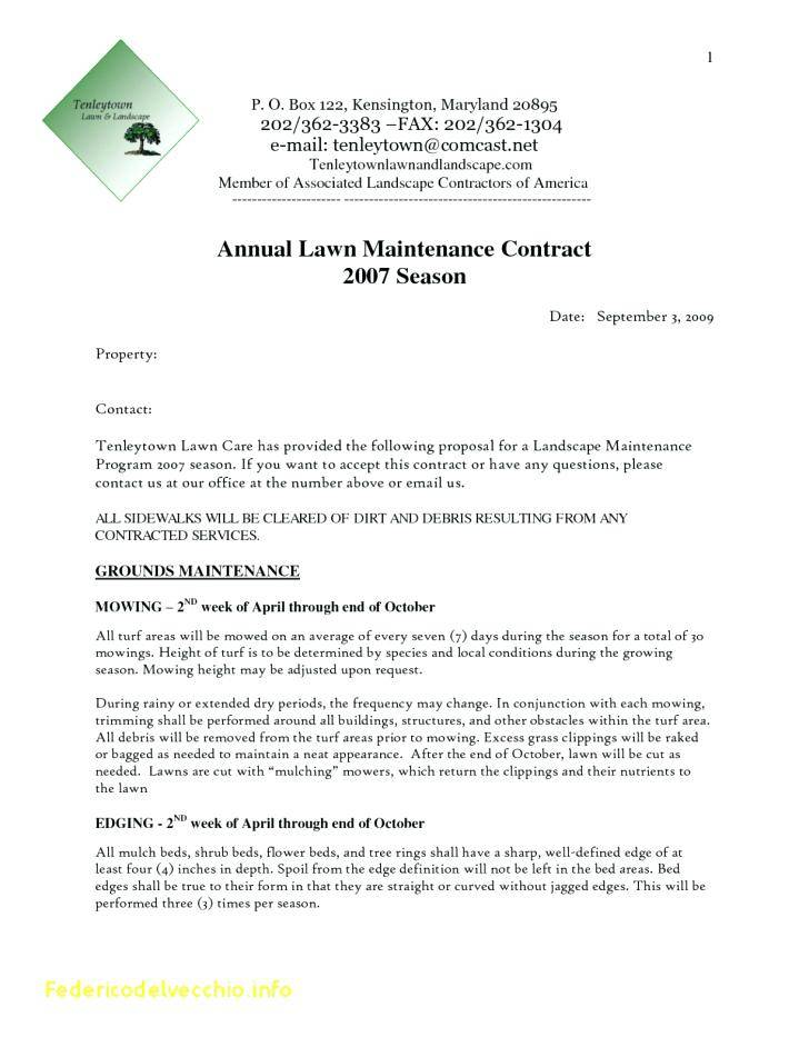 Landscaping Contract Format