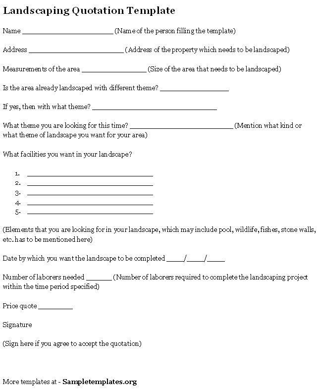 Landscaping Contract Forms