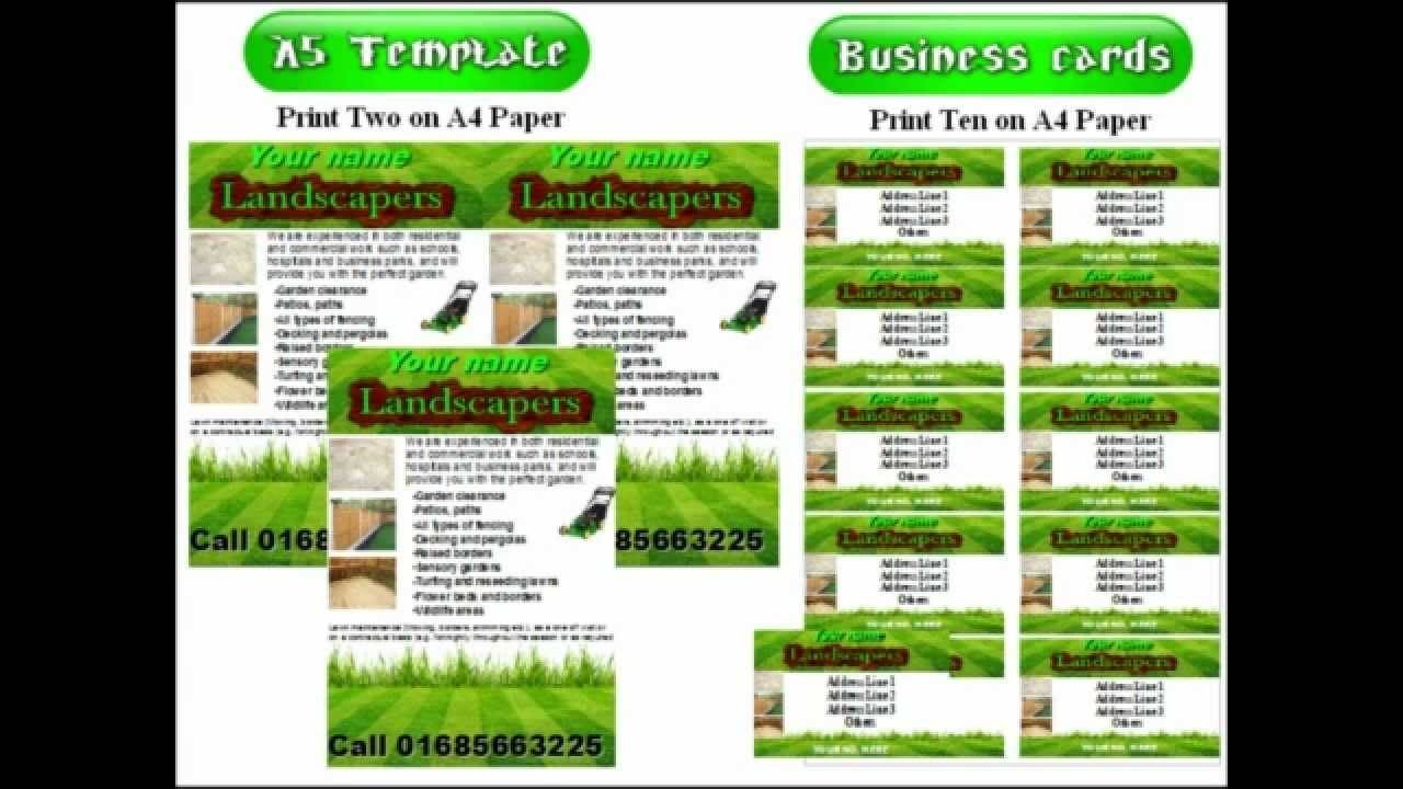 Landscaping Flyer Templates Free