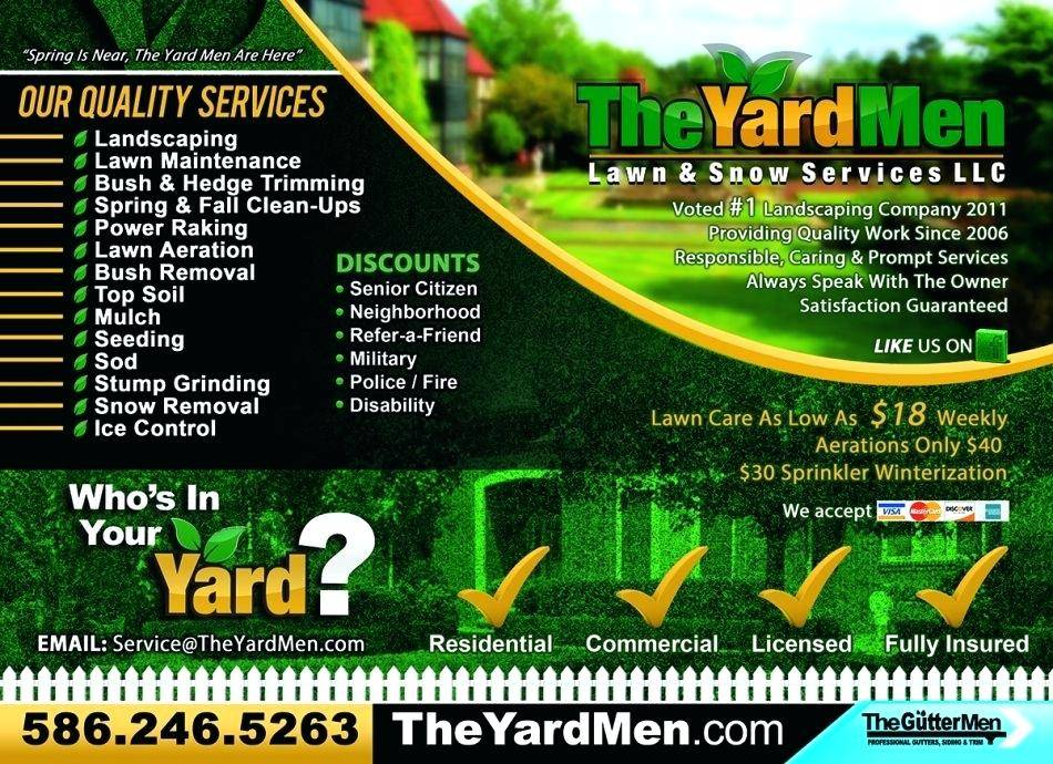 Landscaping Flyer Templates Word