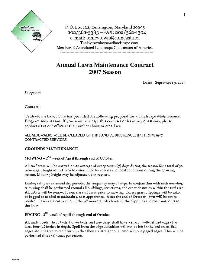 Landscaping Maintenance Proposal Template