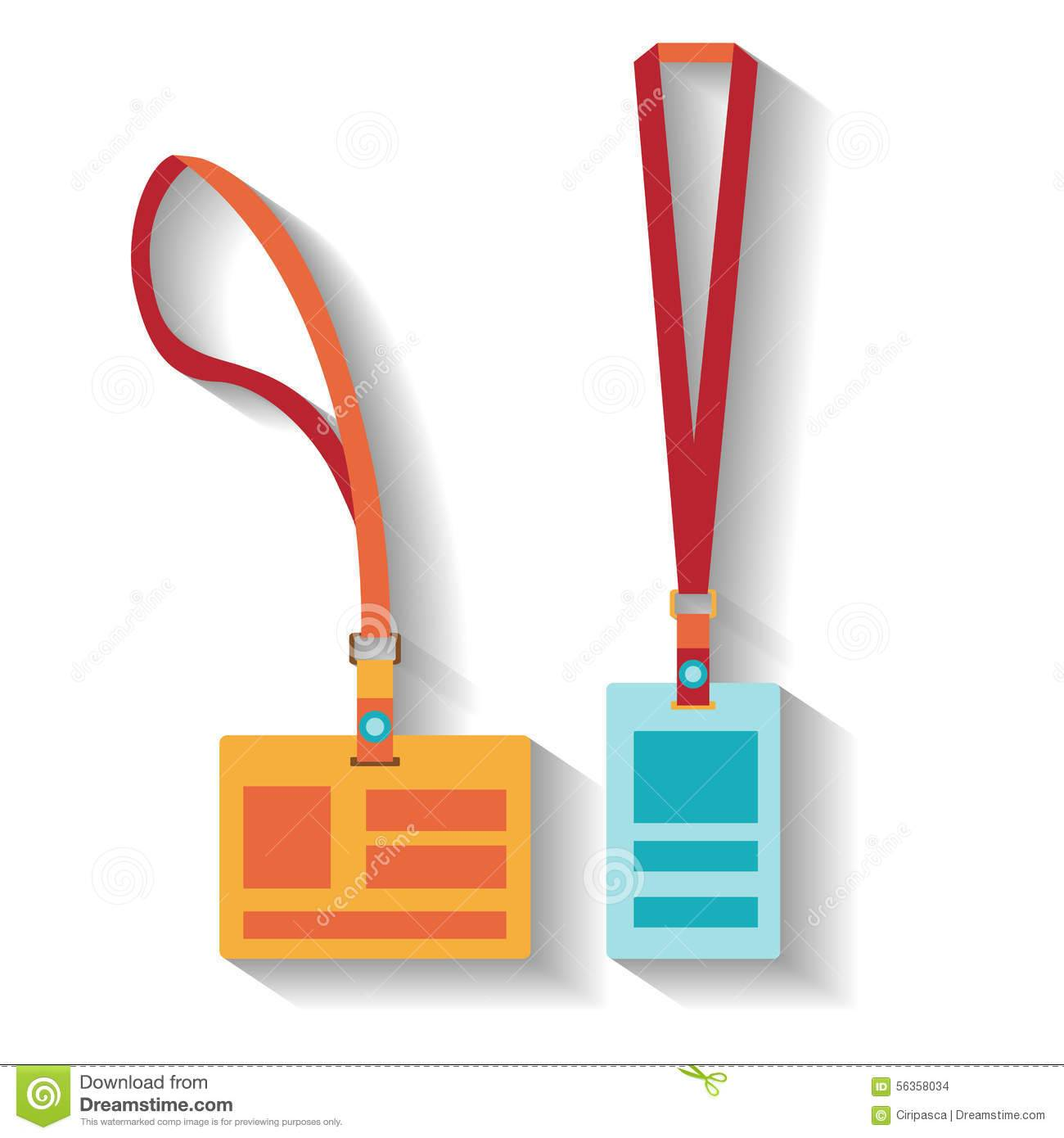 Lanyard Design Template Vector