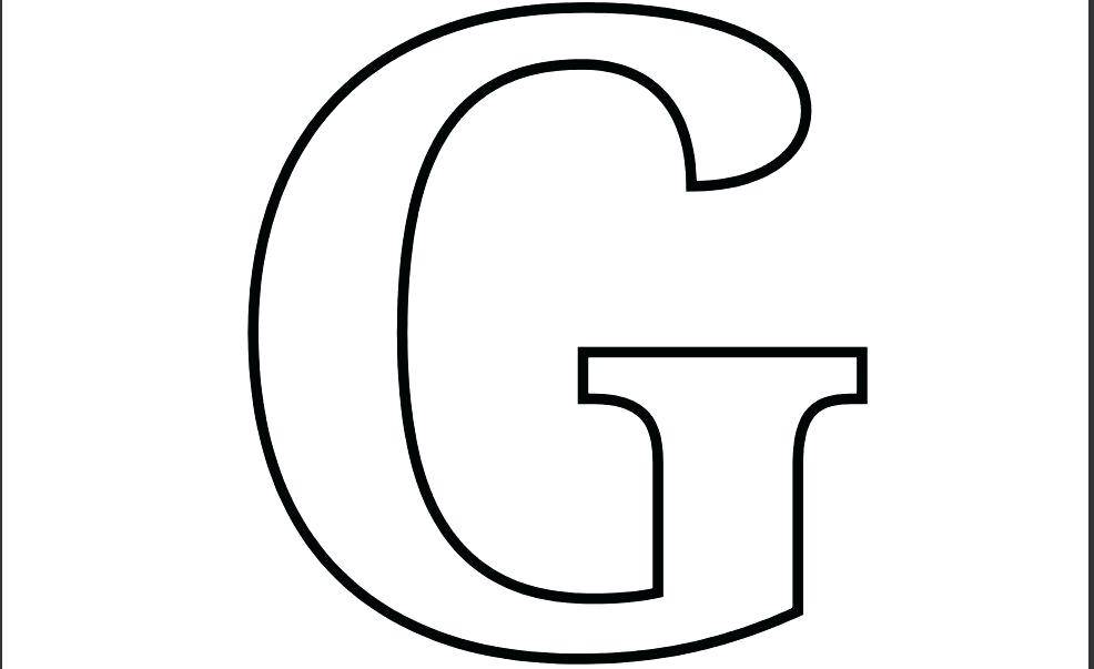 Large Letter Templates For Routers