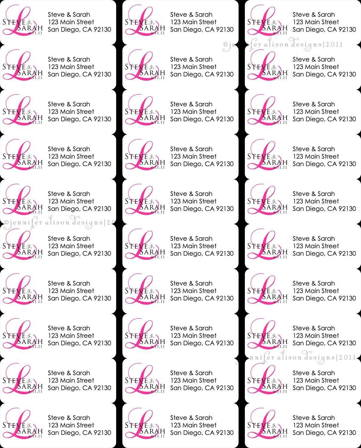 Laser Labels Template 30 Per Sheet