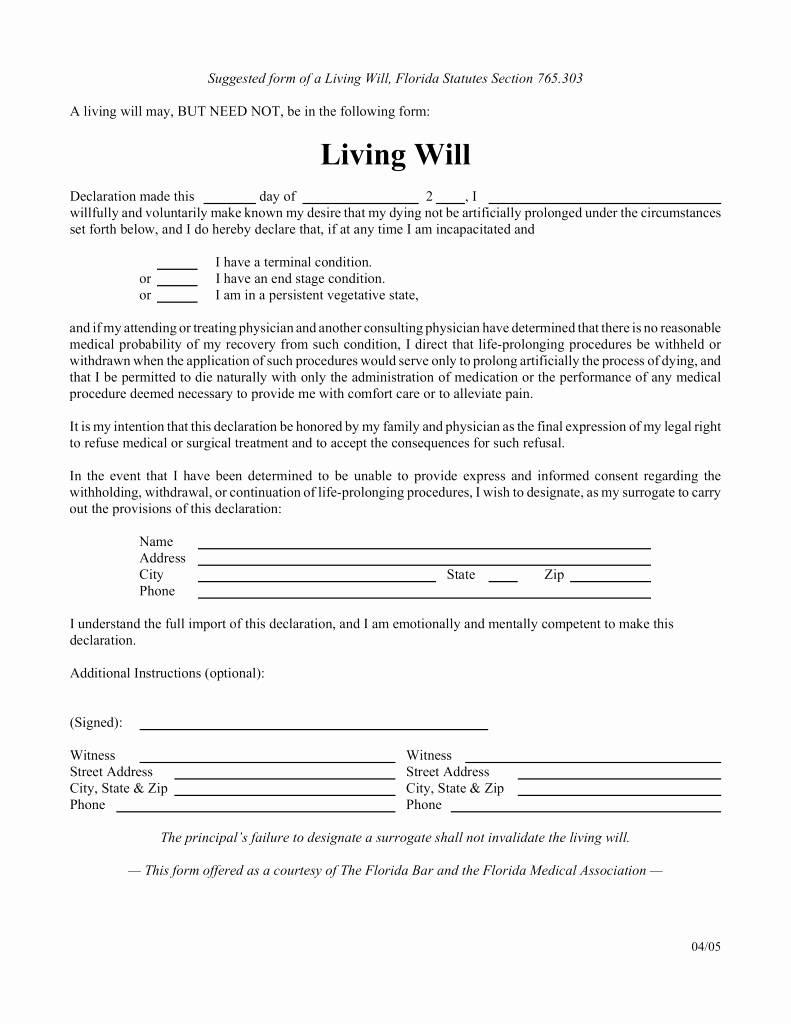 Last Will And Testament Arizona Template Free