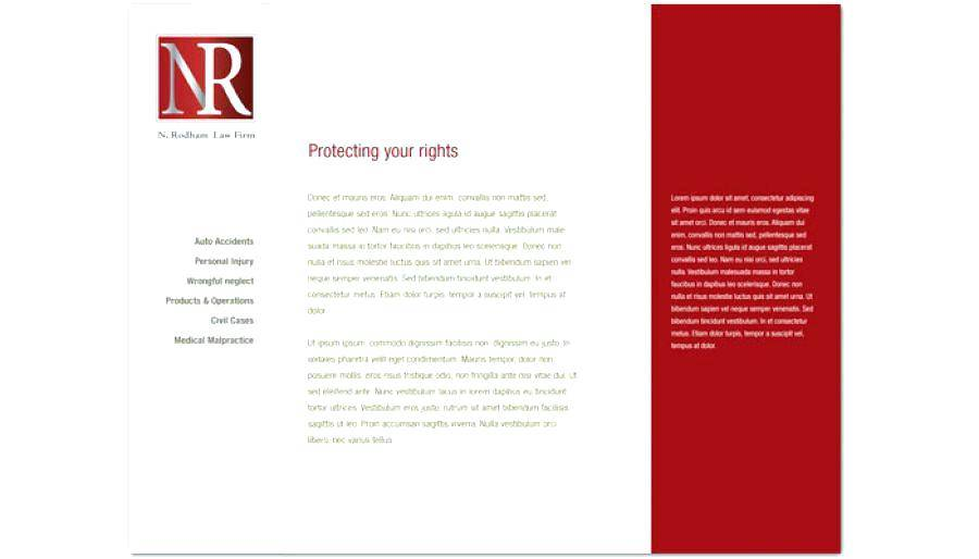 Law Firm Letterhead Design Examples