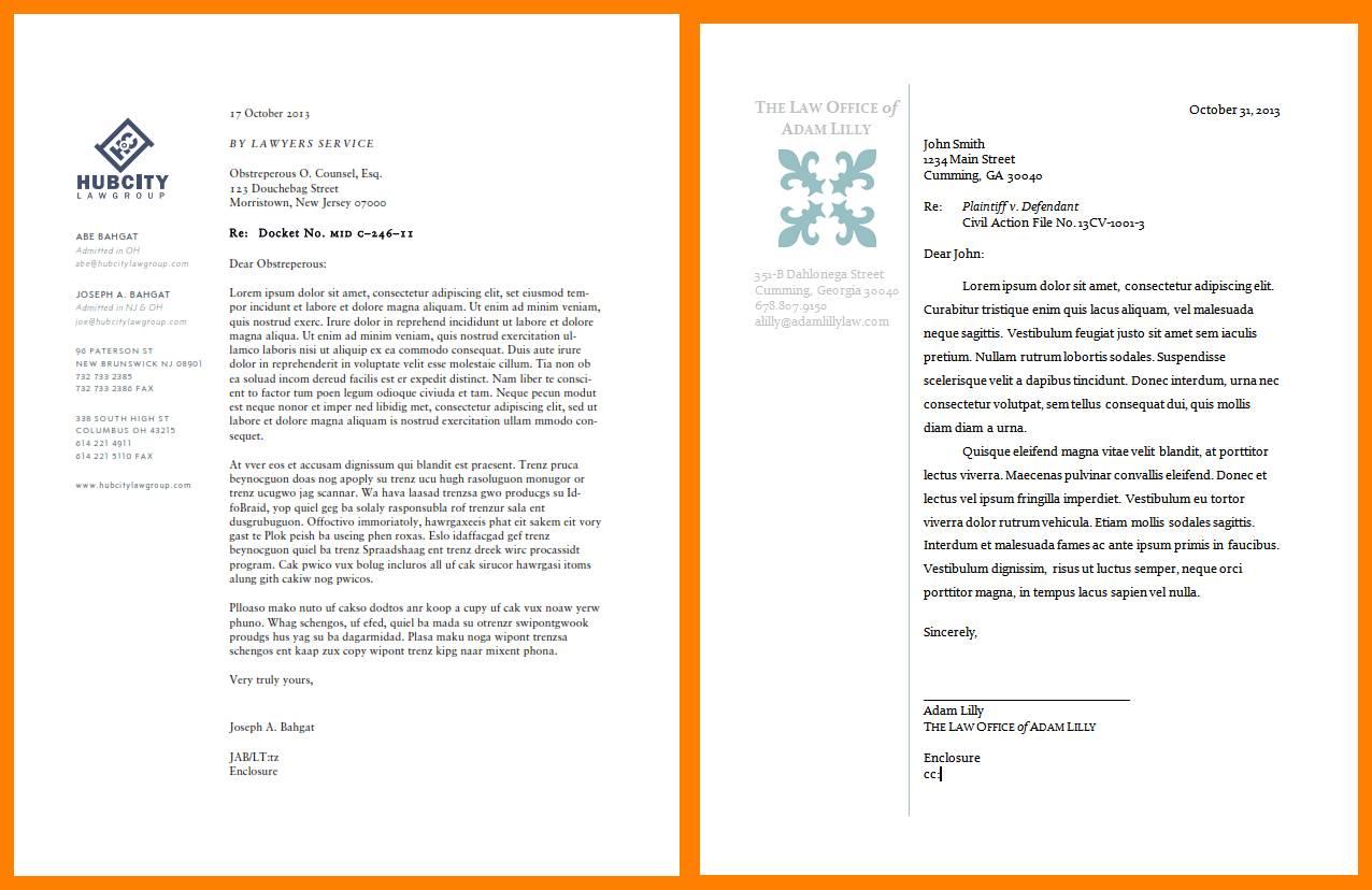 Law Firm Letterhead Templates