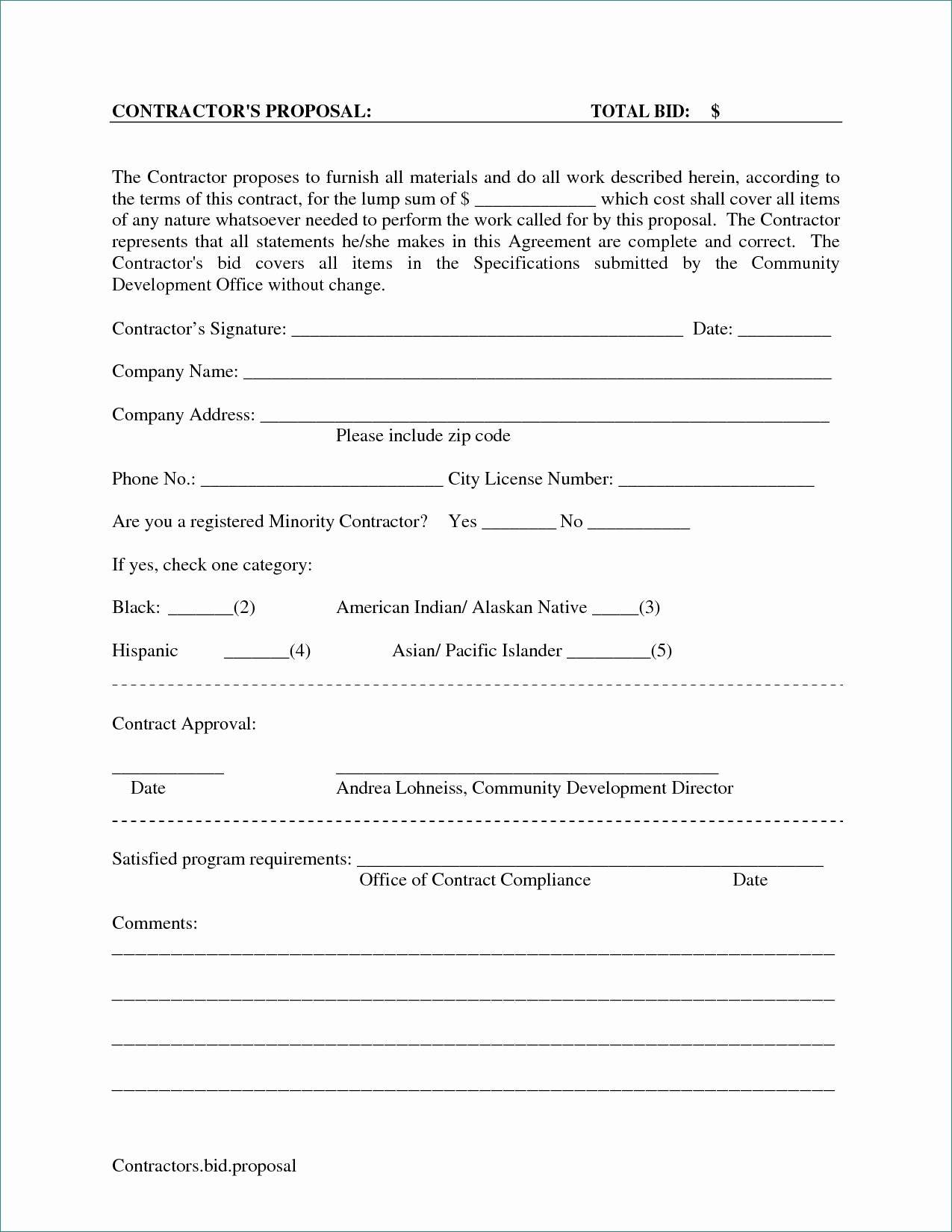 Lawn Care Bid Proposal Template Excel