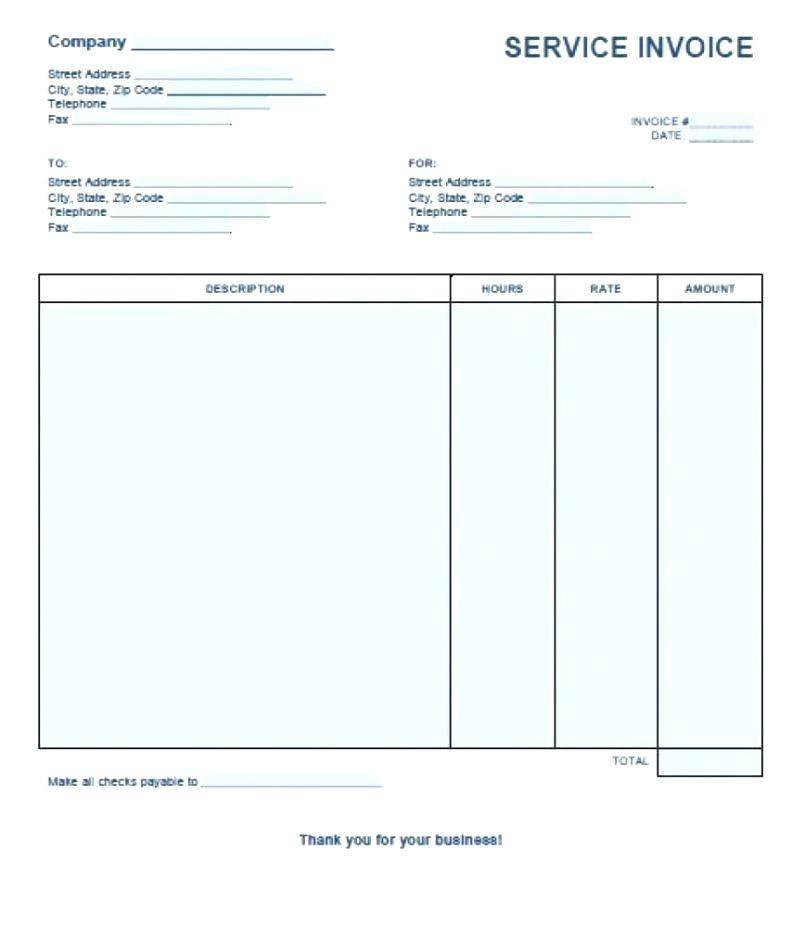 Lawn Care Service Invoice Template