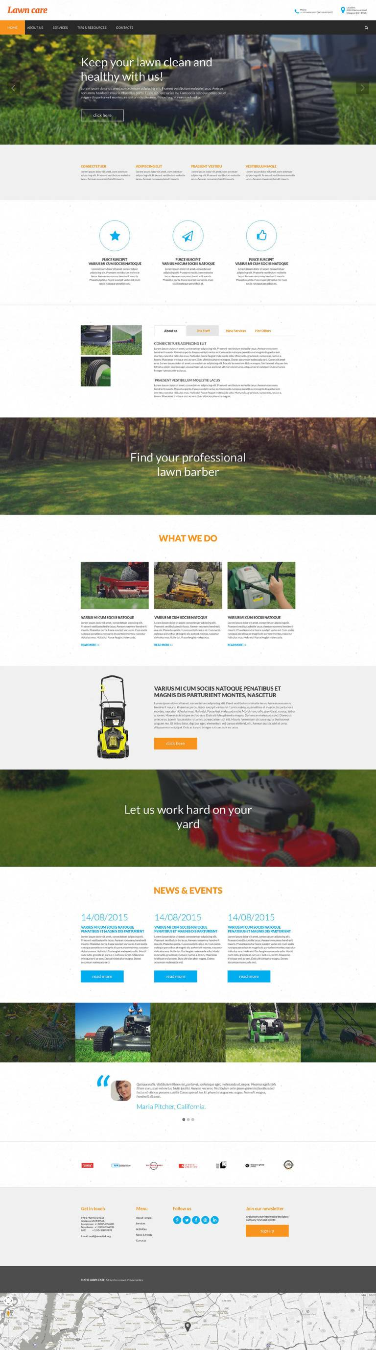 Lawn Mowing Website Template