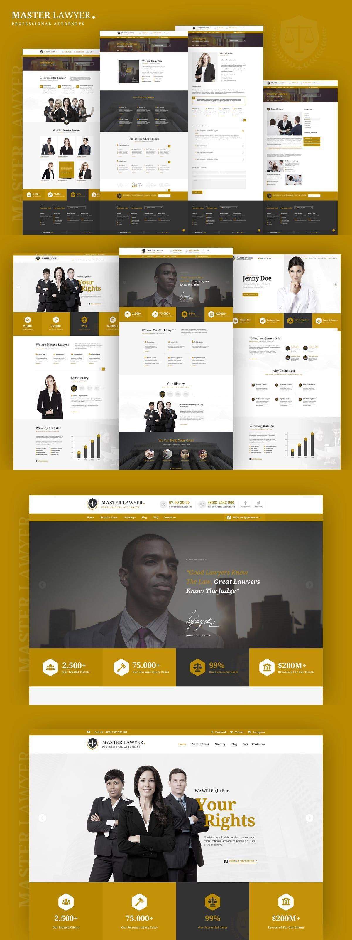Lawyer Websites Templates