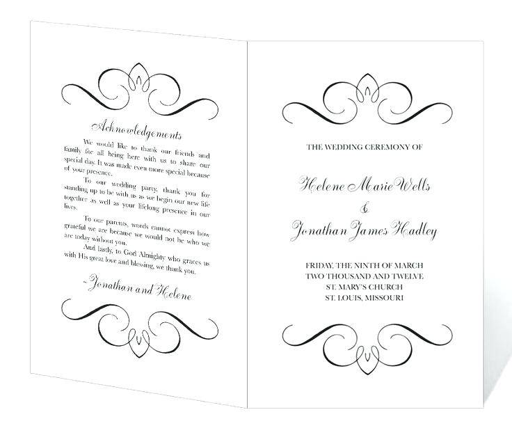 Layered Wedding Programs Templates Free