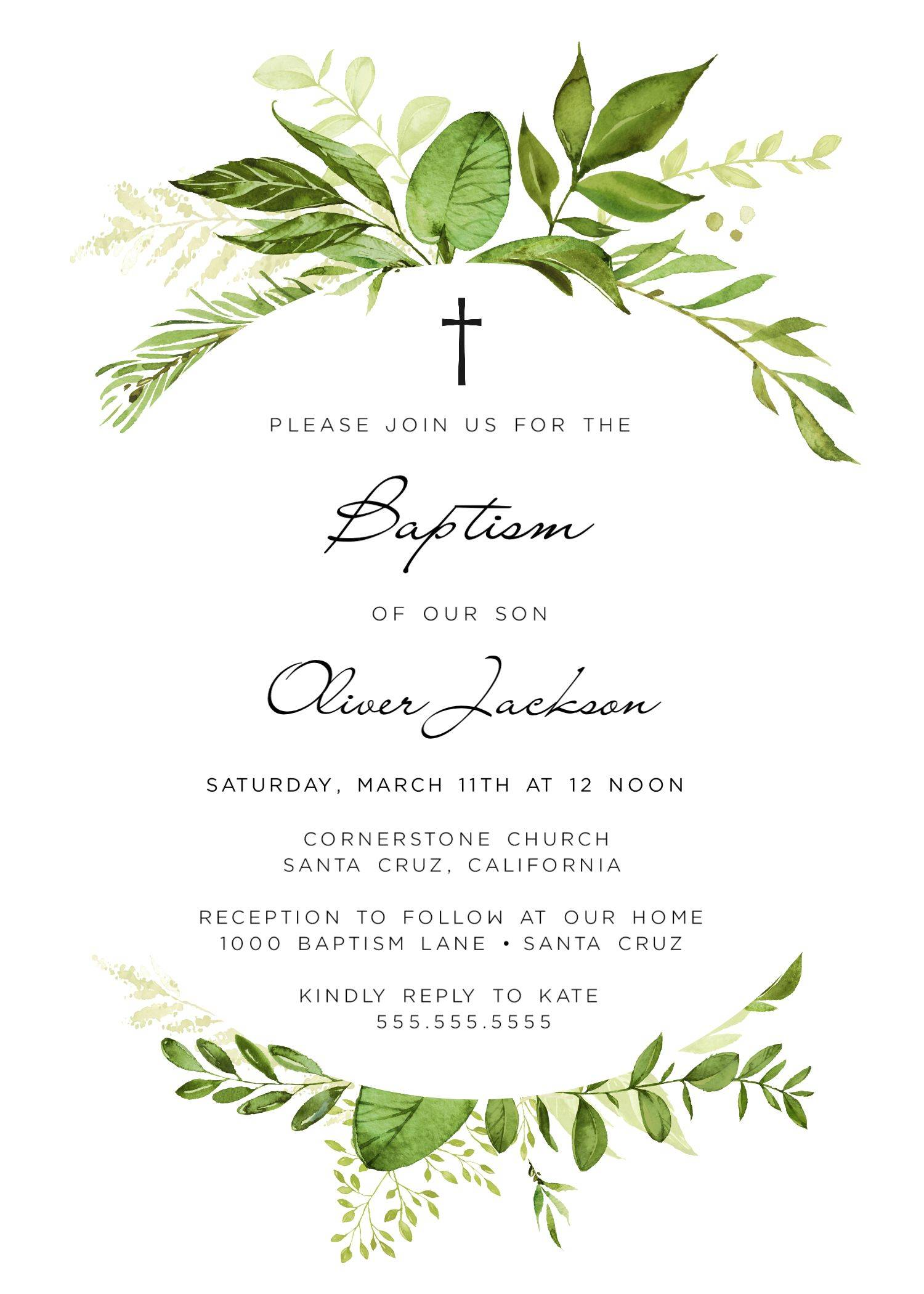 Lds Baptism Invite Template
