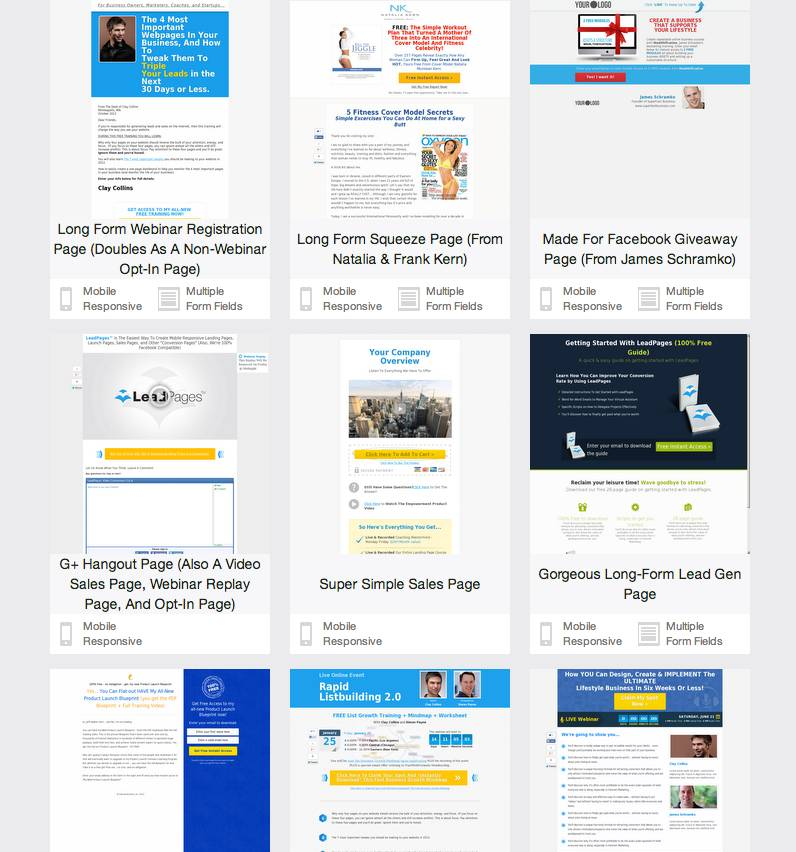 Lead Pages Templates