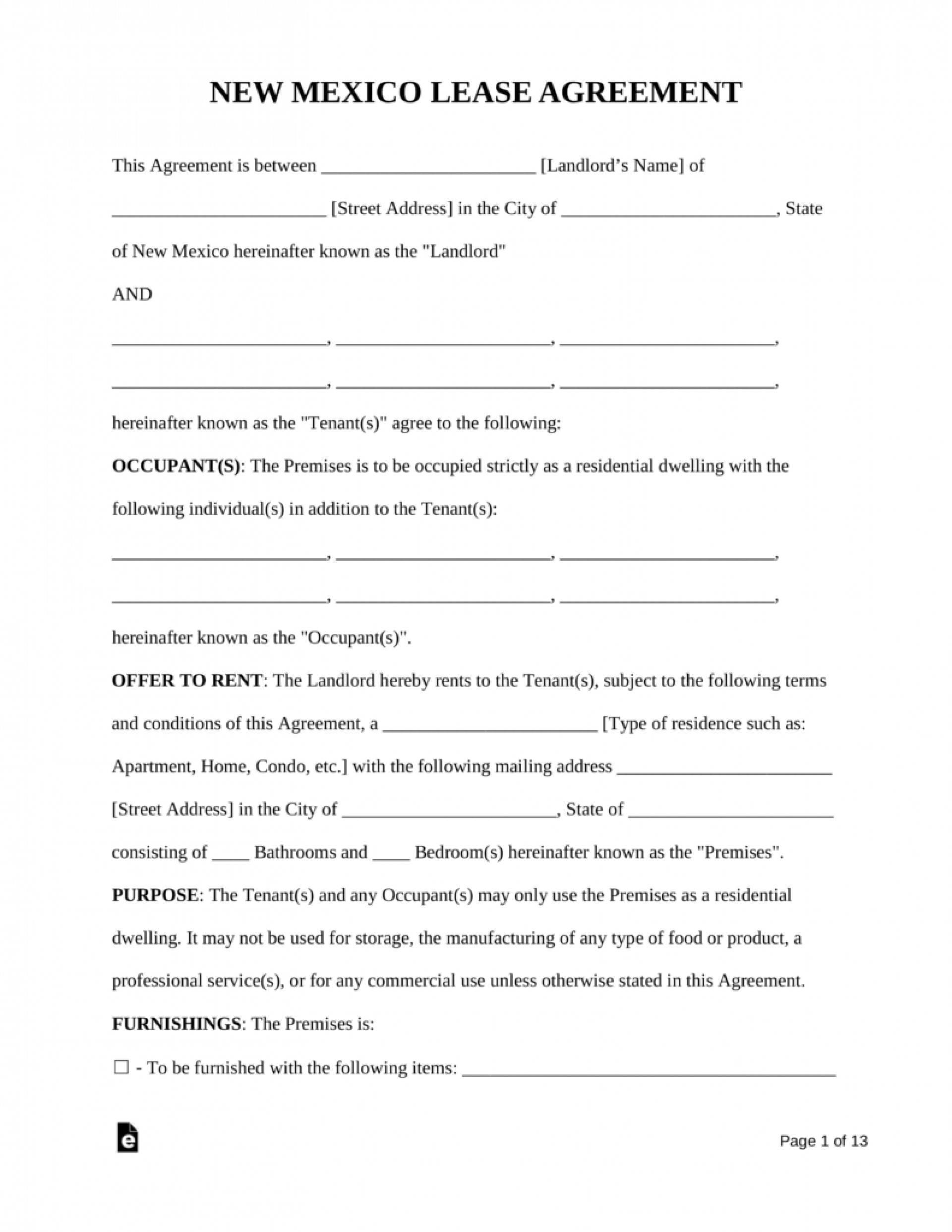 Lease Agreement Form Florida Condominium