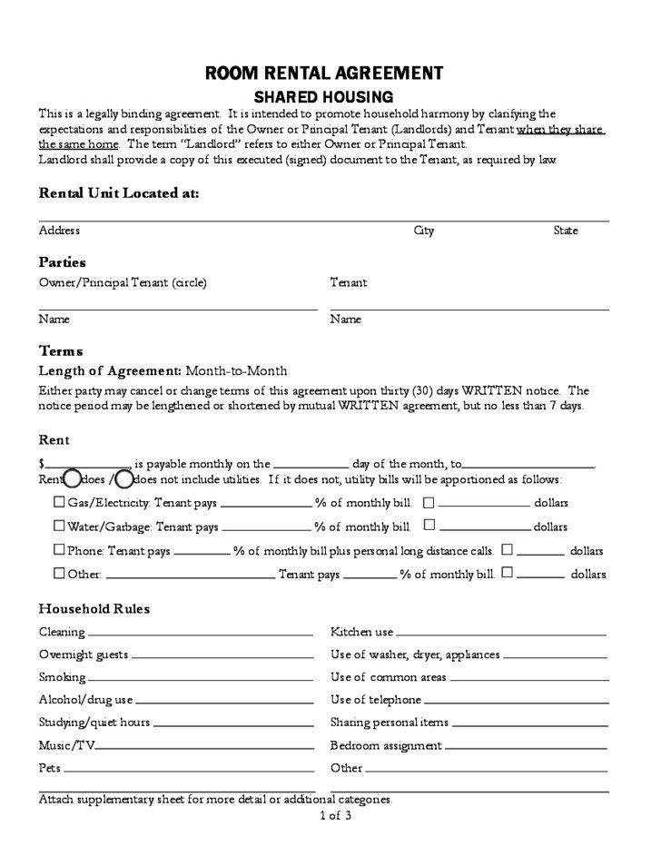 Lease Agreement Template California
