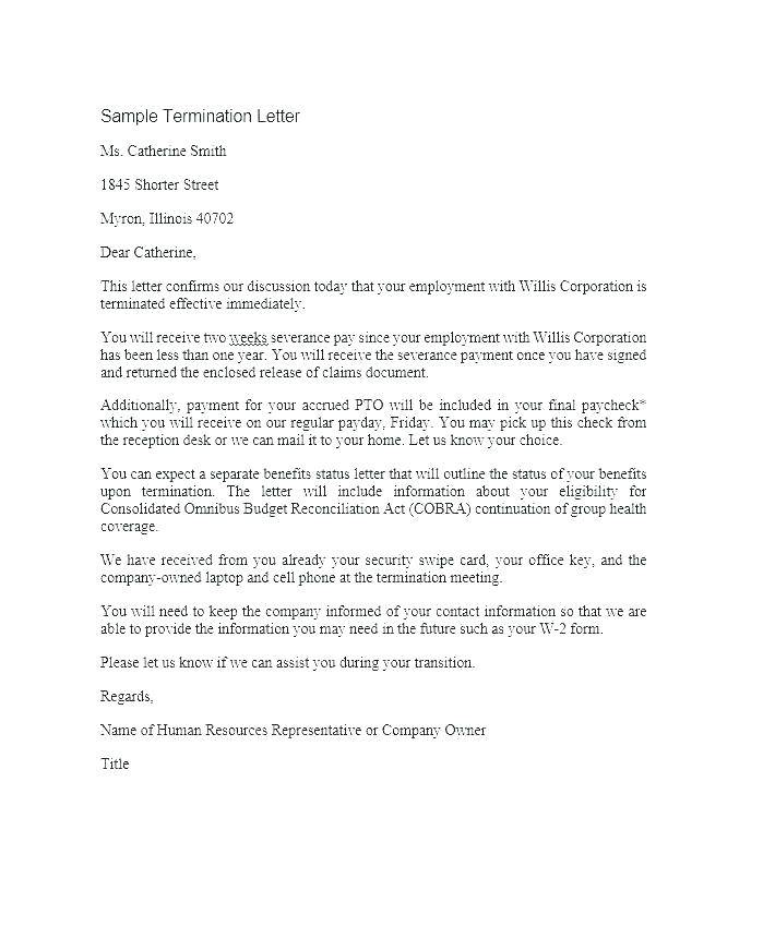 Lease Contract Termination Letter Template