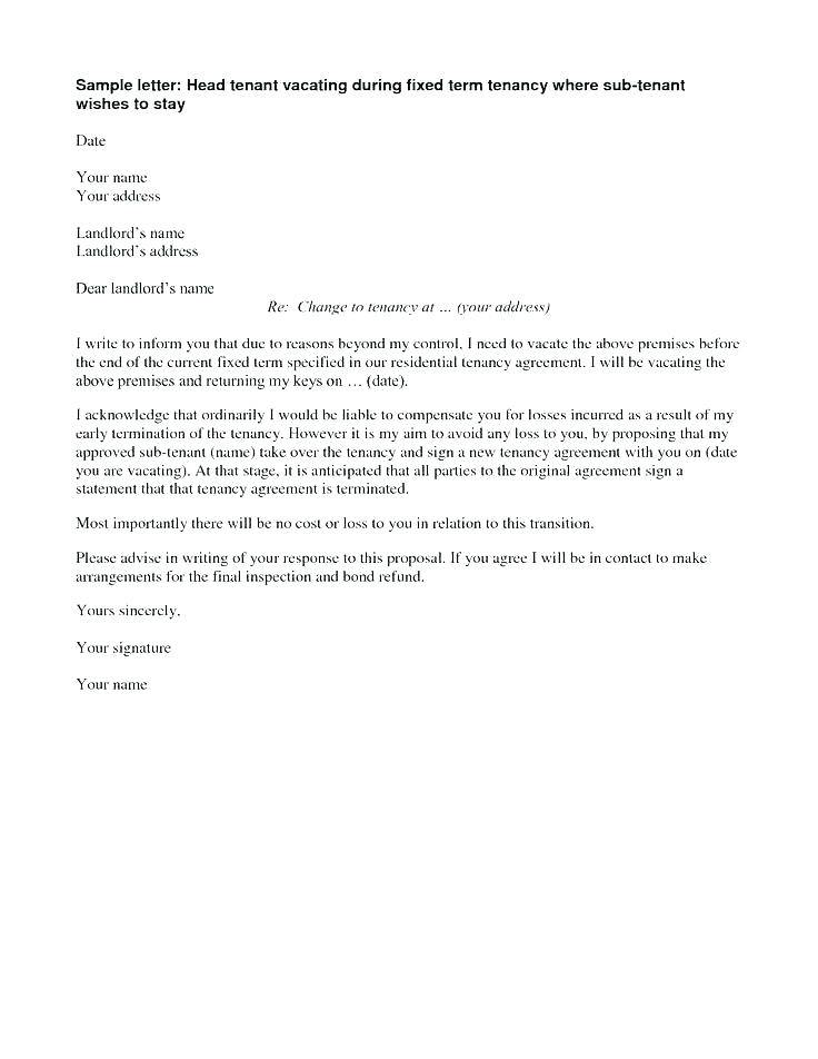 Lease End Letter Template