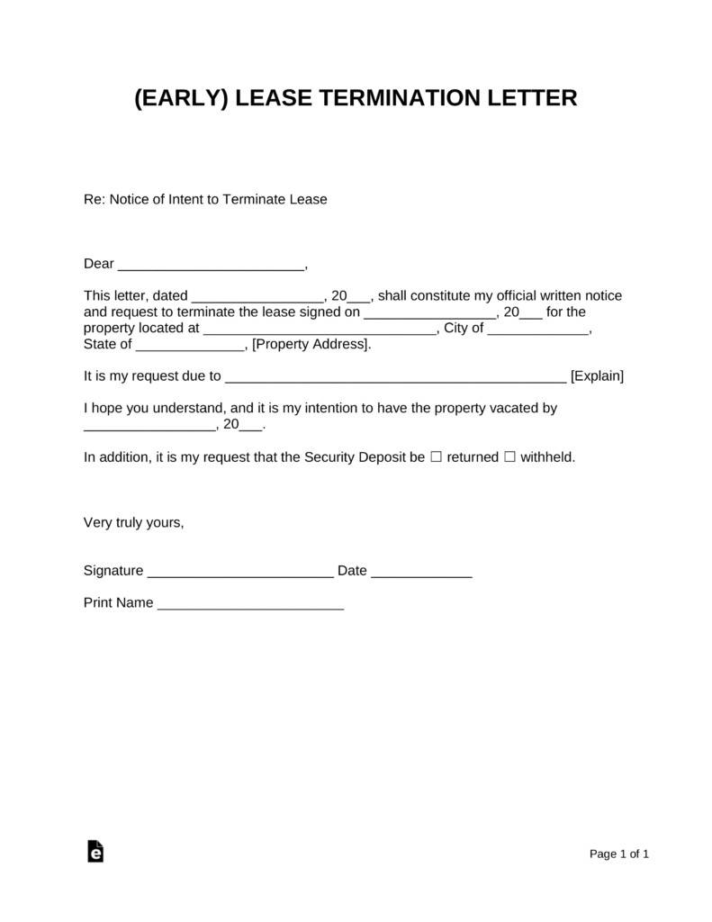 Lease End Template