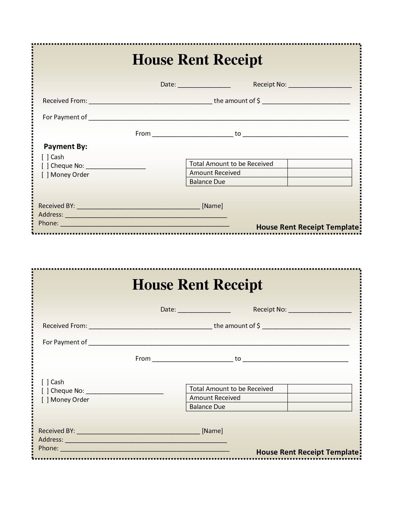 Lease Invoice Format