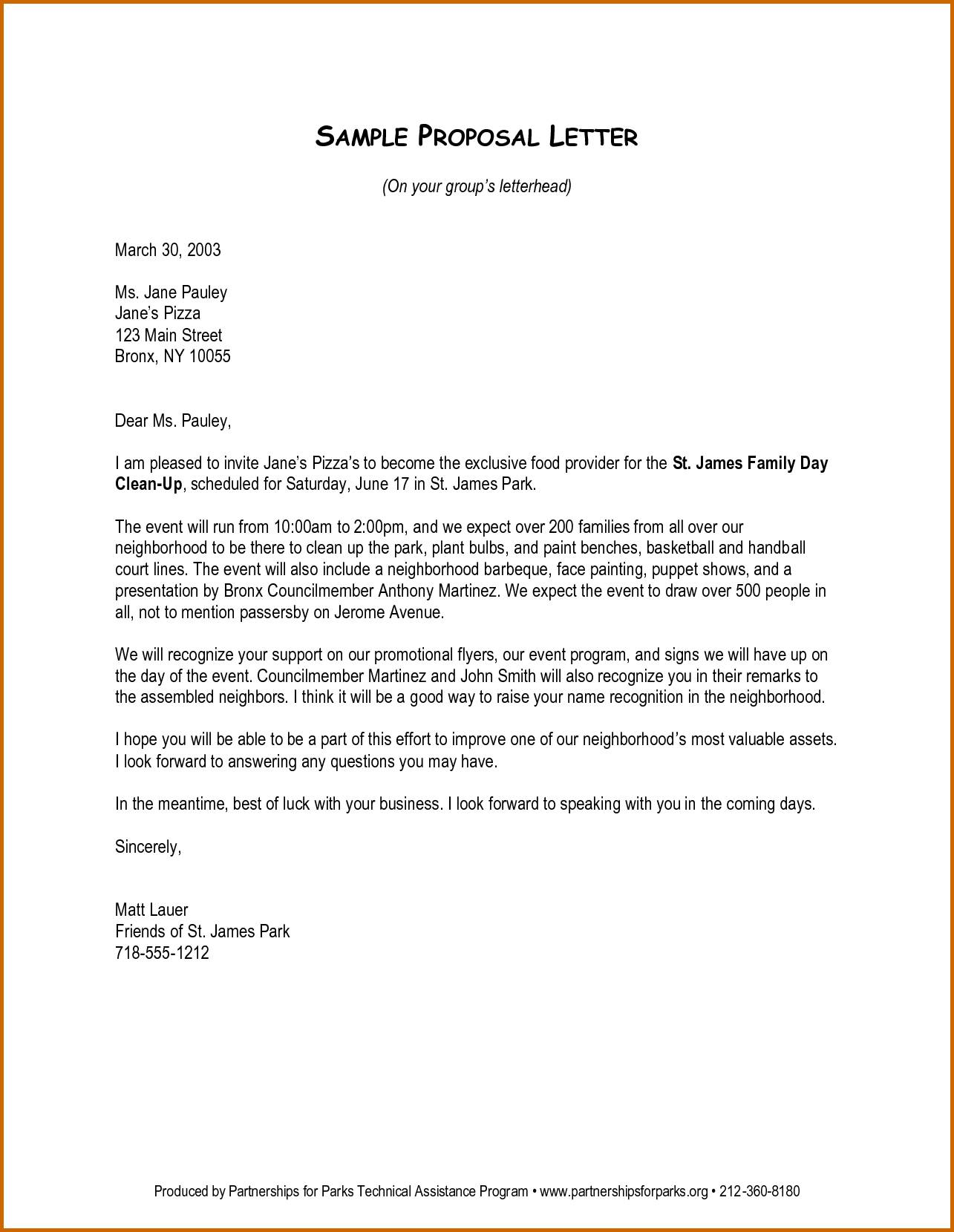 Lease Proposal Letter Template