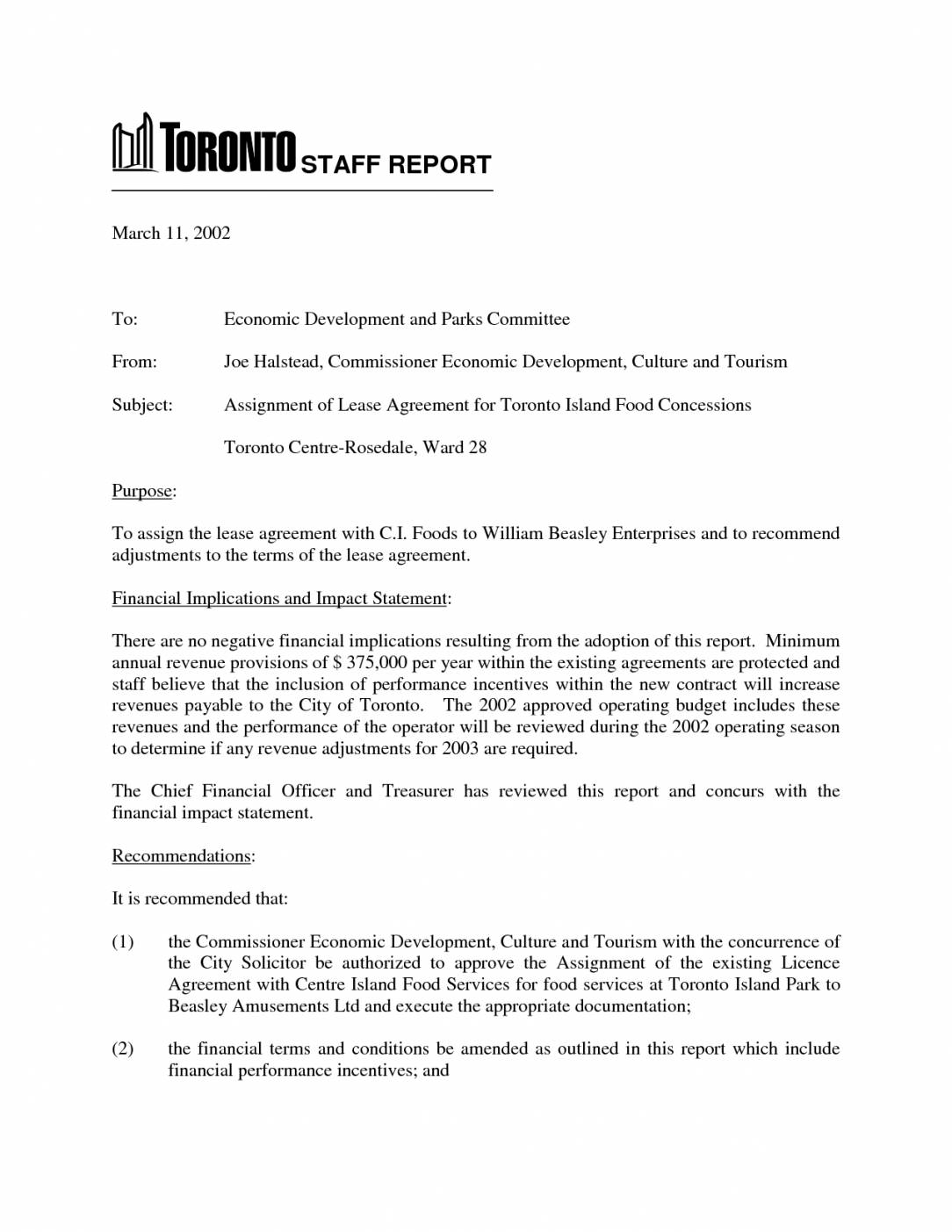 Lease Proposal Template