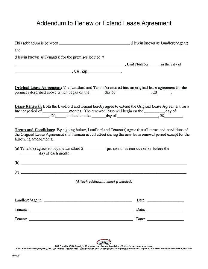 Lease Renewal Proposal Template
