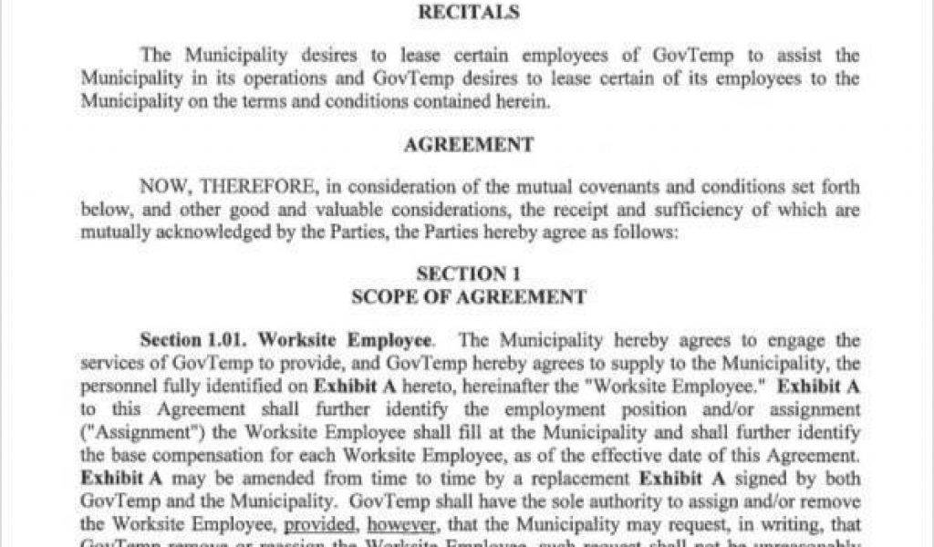 Leasing Agreement Template