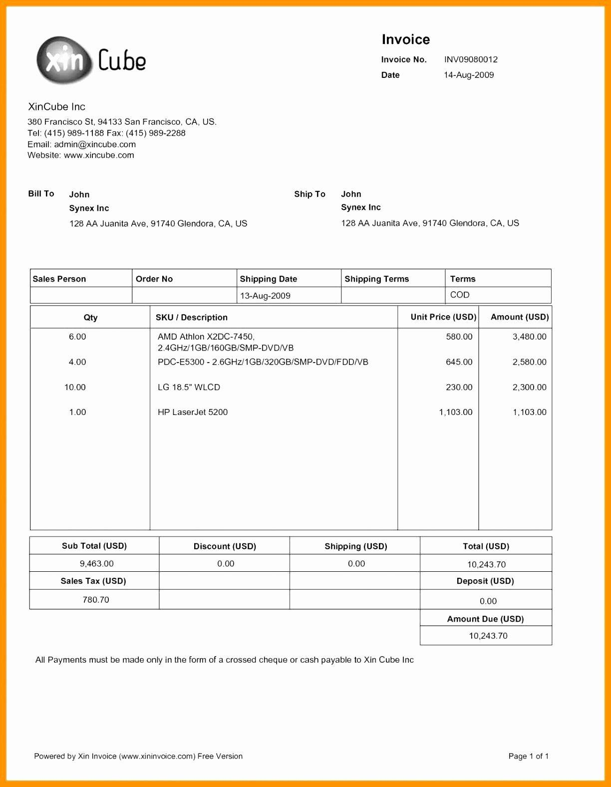 Legal Billing Invoice Template