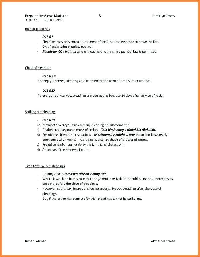 Legal Declaration Statement Template