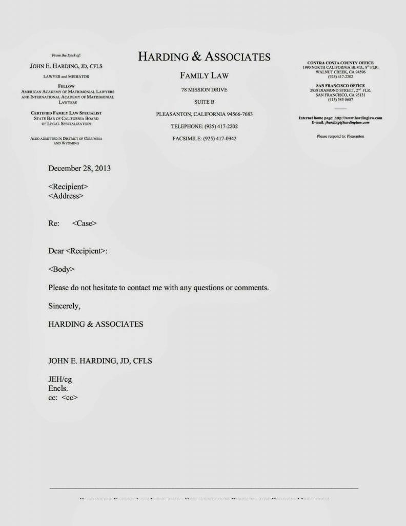 Legal Letterhead Templates Free