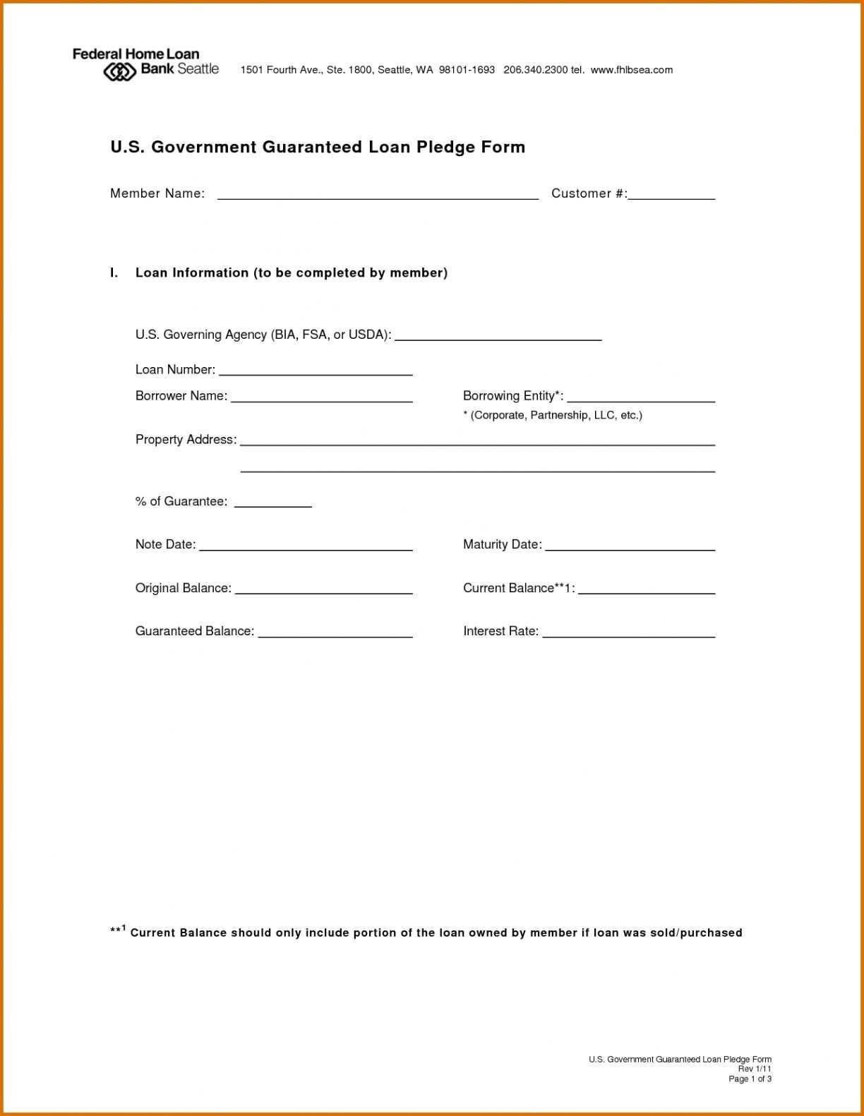 Legal Loan Agreement Template