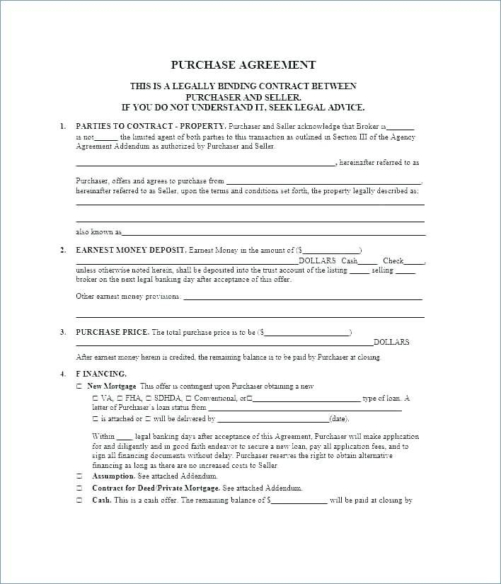 Legal Loan Document Template