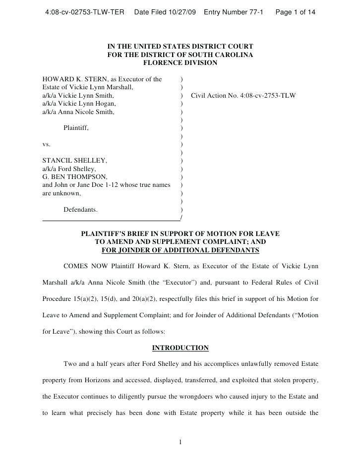 Legal Pleadings Template