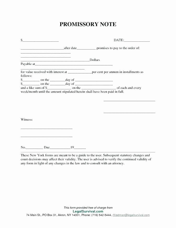 Legal Promissory Note Template Word