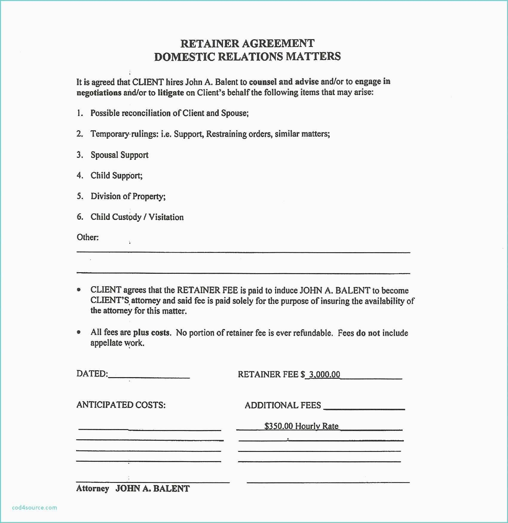 Legal Services Retainer Agreement Form