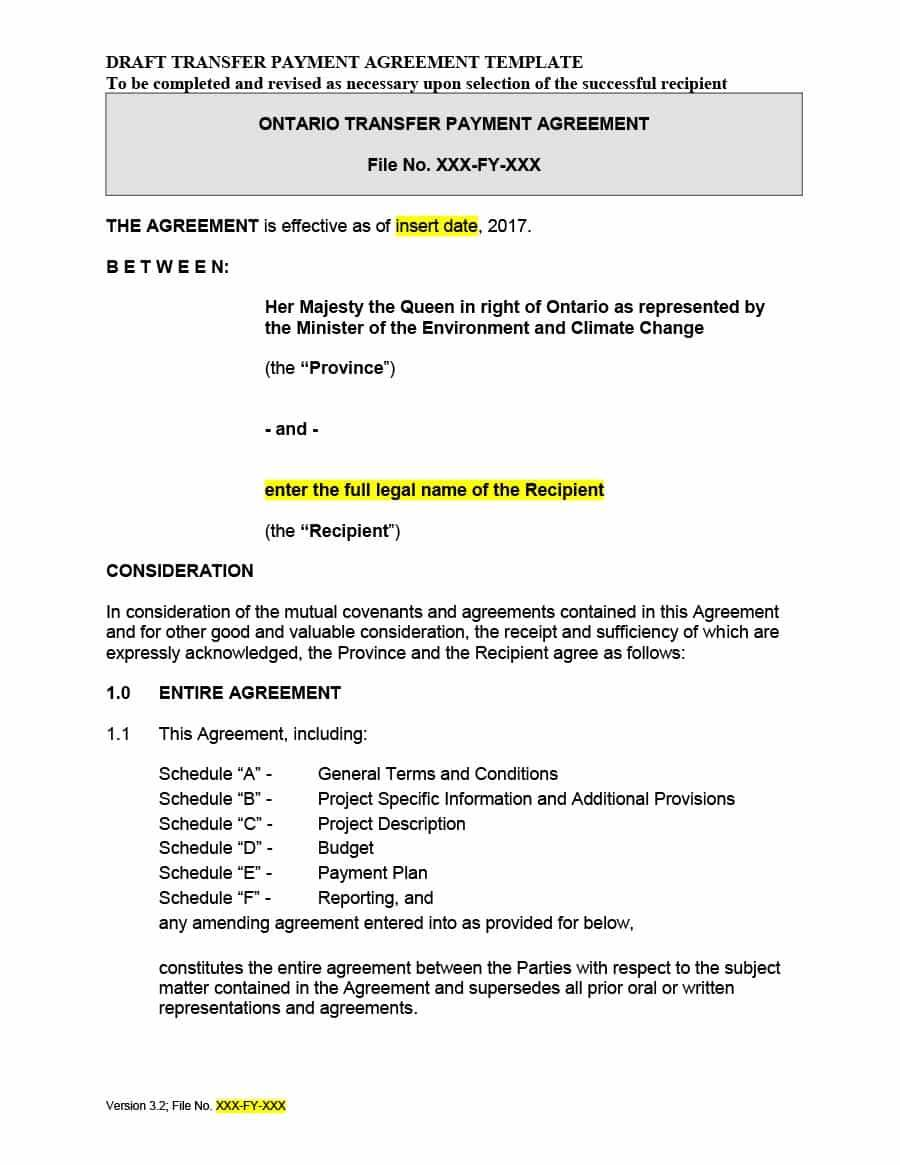 Legally Binding Payment Agreement Template
