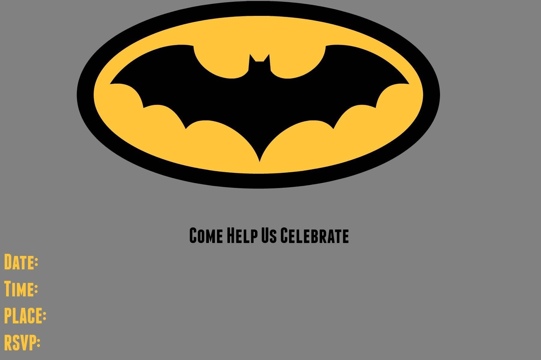 Lego Batman Birthday Invitation Templates