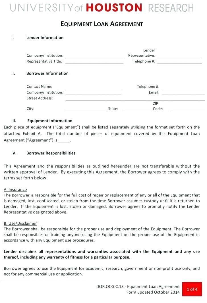 Lending Money Contract Template Free Uk