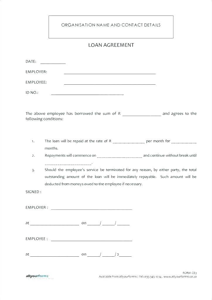 Lending Money To Friends Contract Template