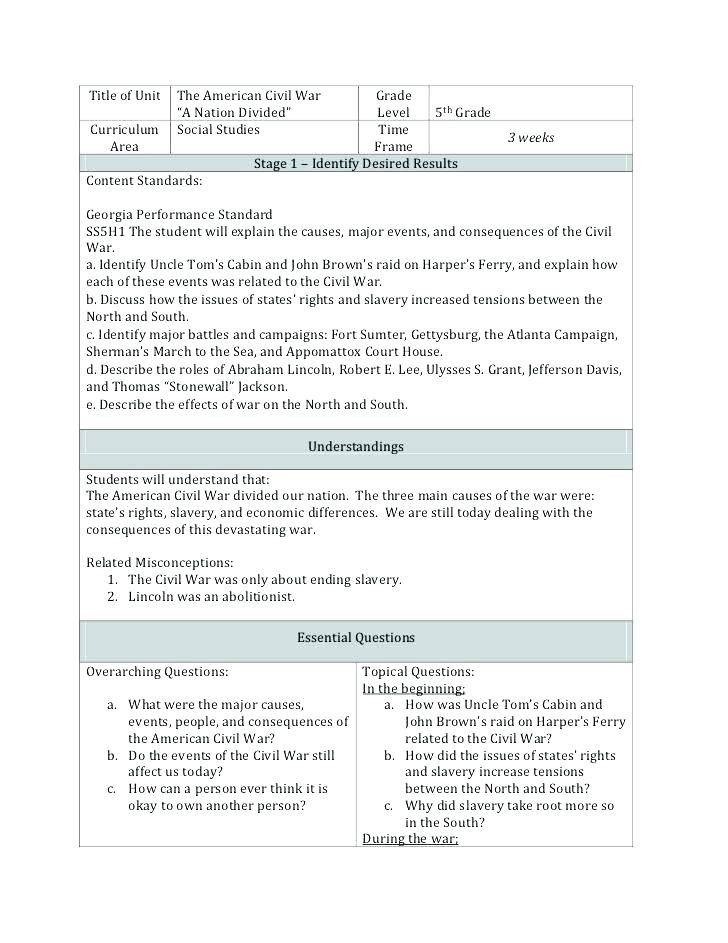Lesson Plan Template For High School Social Studies