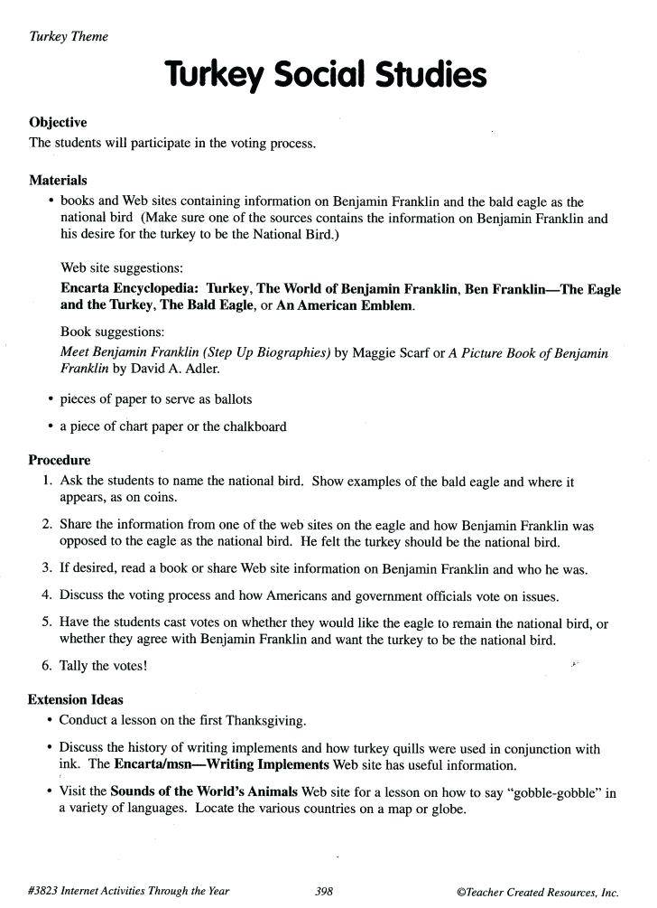 Lesson Plan Template For Middle School Social Studies