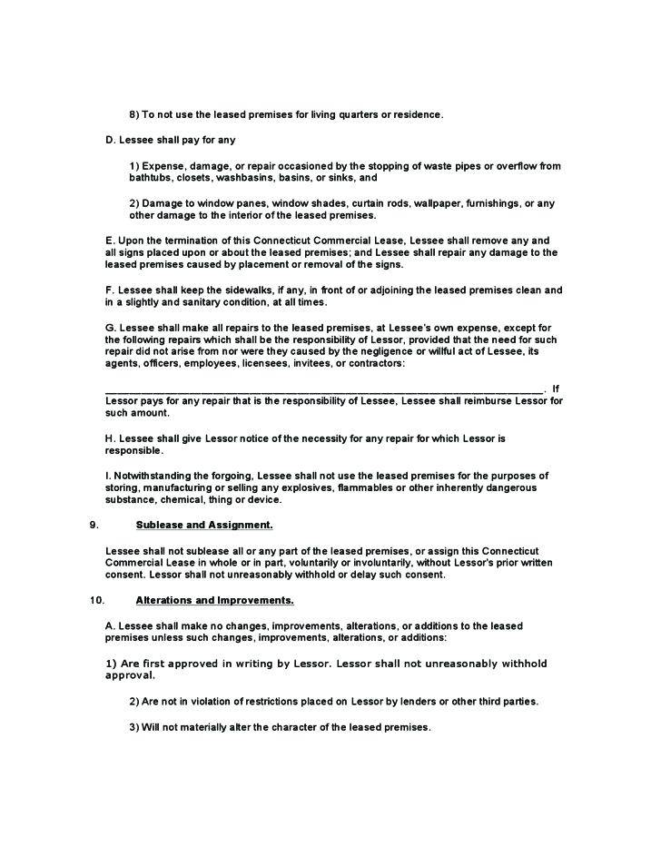 Lessor Lessee Agreement Template
