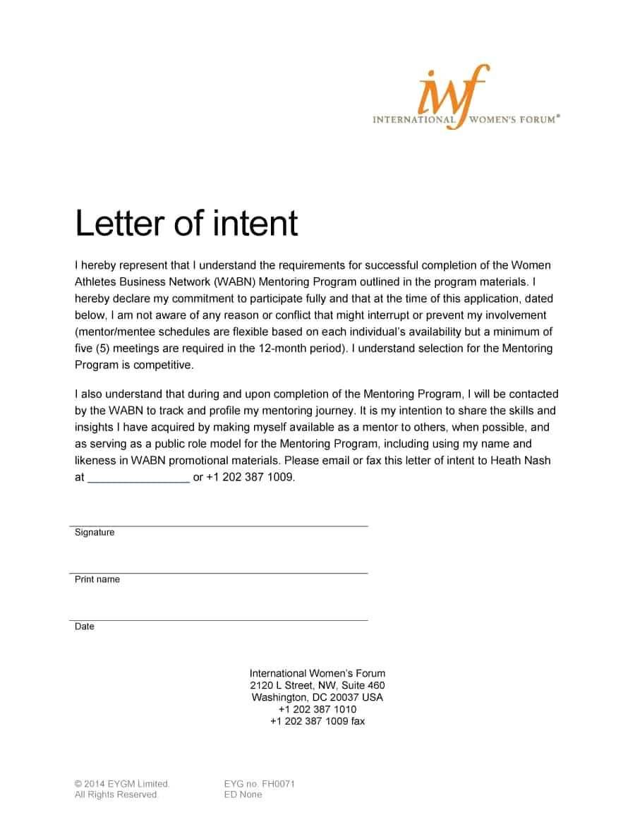 Letter Of Intent To Take Legal Action Template