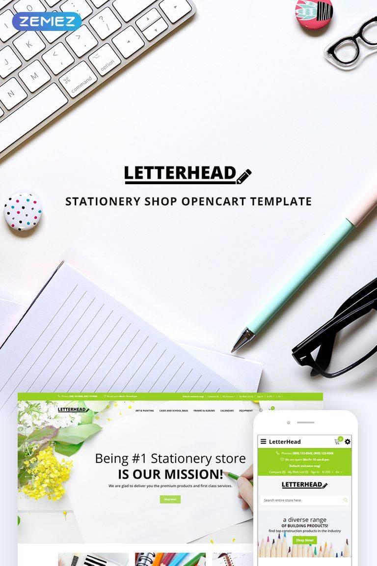 Letterhead Stationery Template